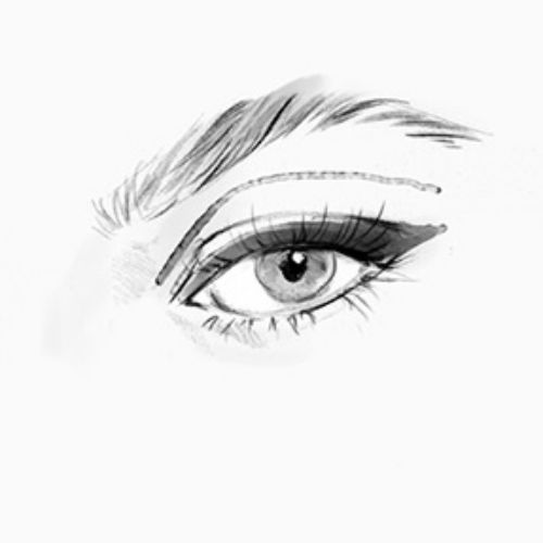 Beauty looks for Eyes illustration