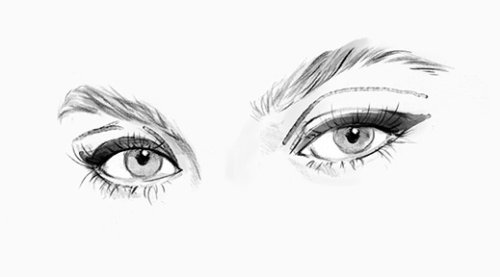 Beauty looks for Eyes illustration