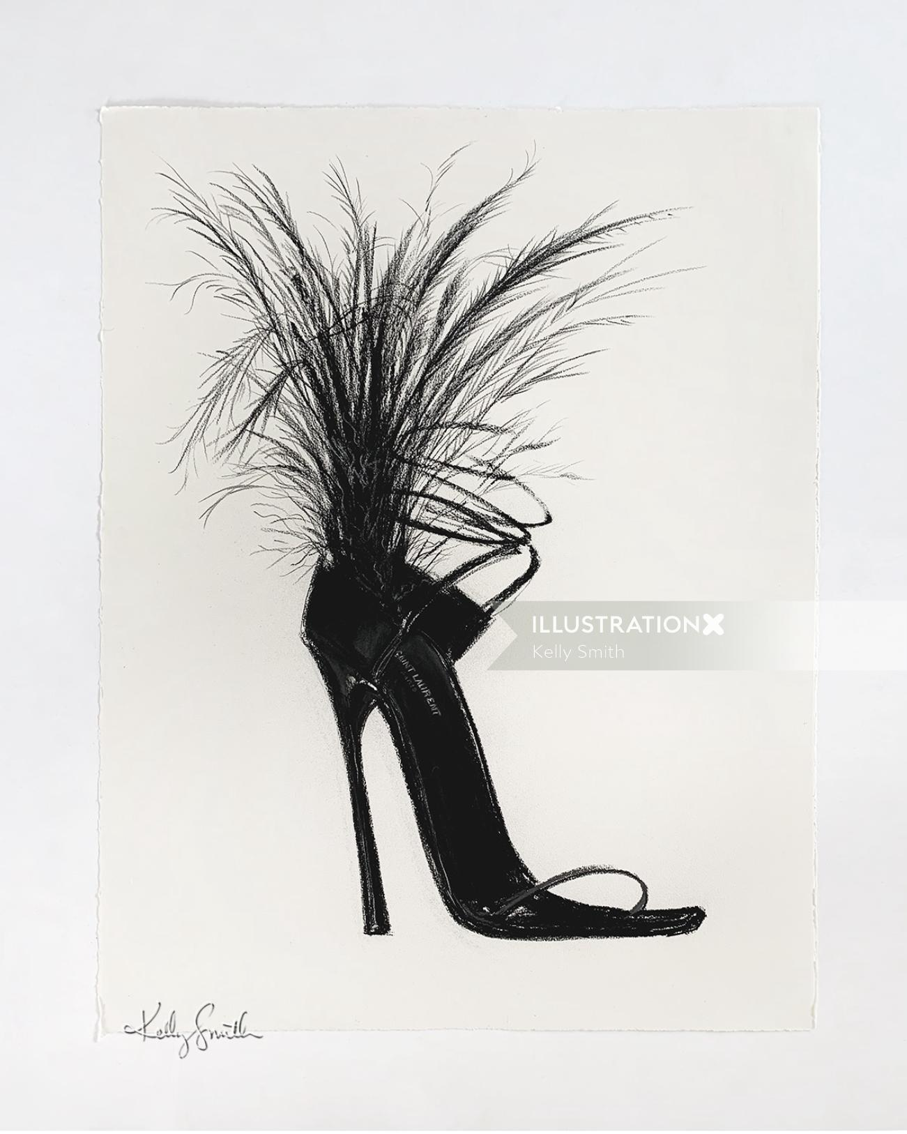Art work of Saint Laurent Heel