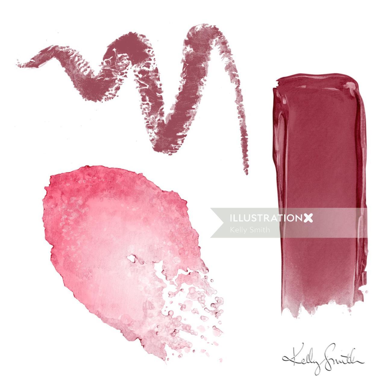 Digital painting of Lip Smears