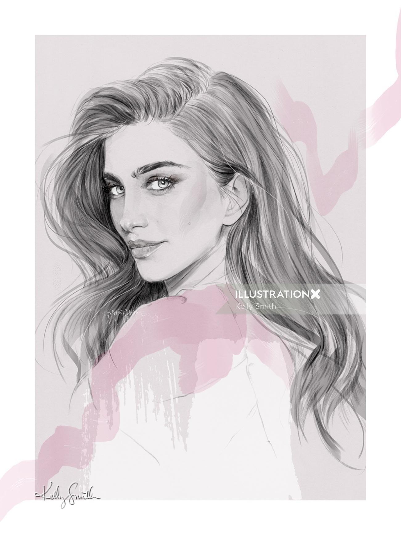 Portrait of Jessica Kahawaty for Harper's Bazaar Arabia,