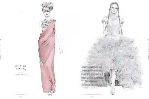 Chanel & McQueen ilustração de moda por Kelly Smith