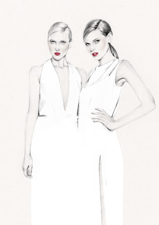 Women fashion illustration by Kelly Smith