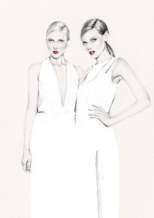 Women fashion illustration by Kelly Smith