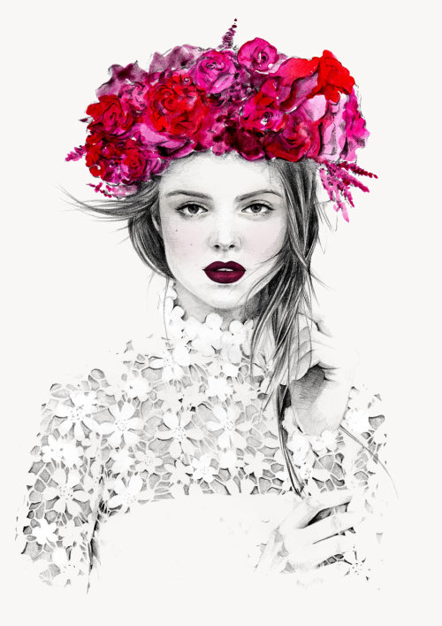 Ali Mitton fashion photography illustration by Kelly Smith