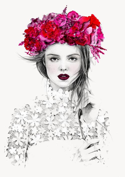 Ilustração de fotografia de moda de Ali Mitton por Kelly Smith