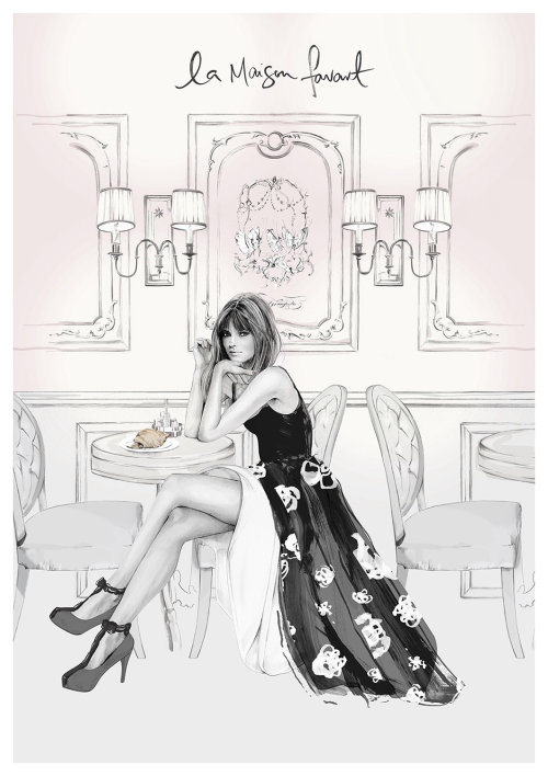 Woman fashion illustration by Kelly Smith