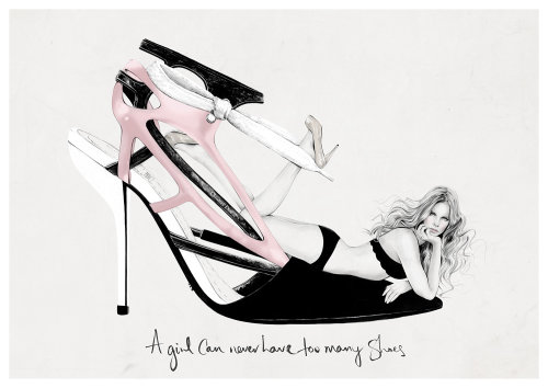 Women sandles illustration