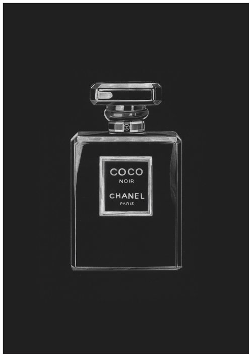 Illustration for Coco Chanel Noir