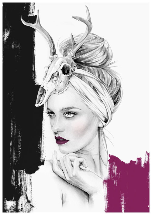 Ilustração da beleza por Kelly Smith