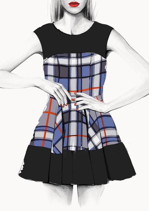 Ilustração de moda EPOCA de Kelly Smith
