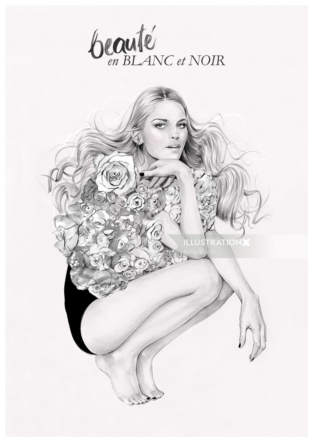 Woman fashion illustration by Kelly Smith