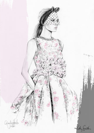 Lady fashion illustration