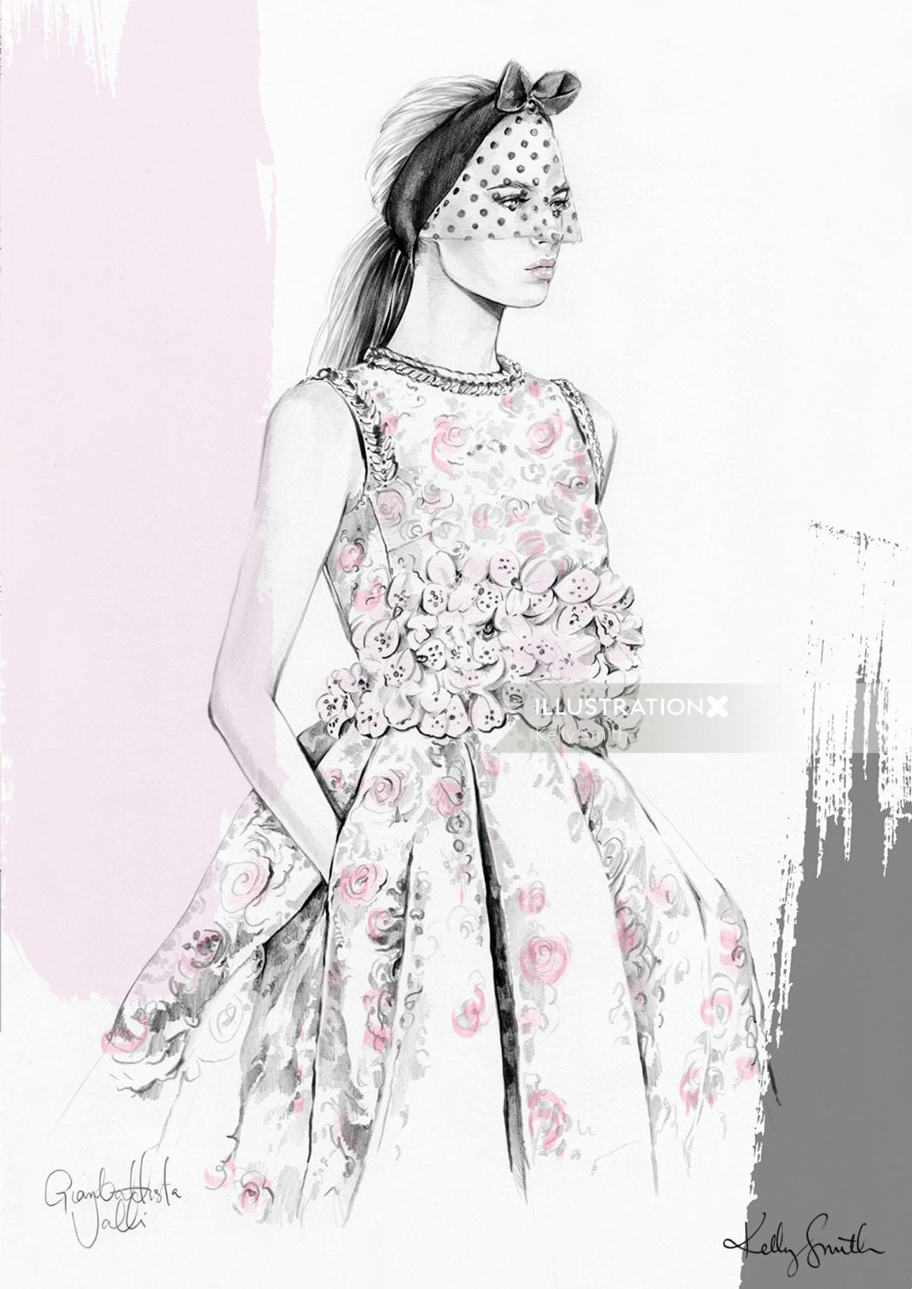 Lady fashion illustration
