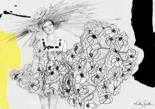 illustration of lady fashions