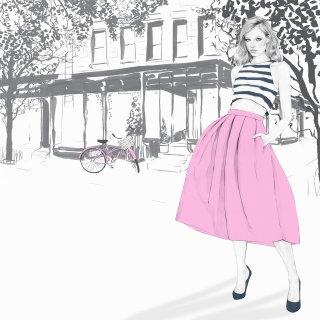 Illustrationfor Elle and Maybelline