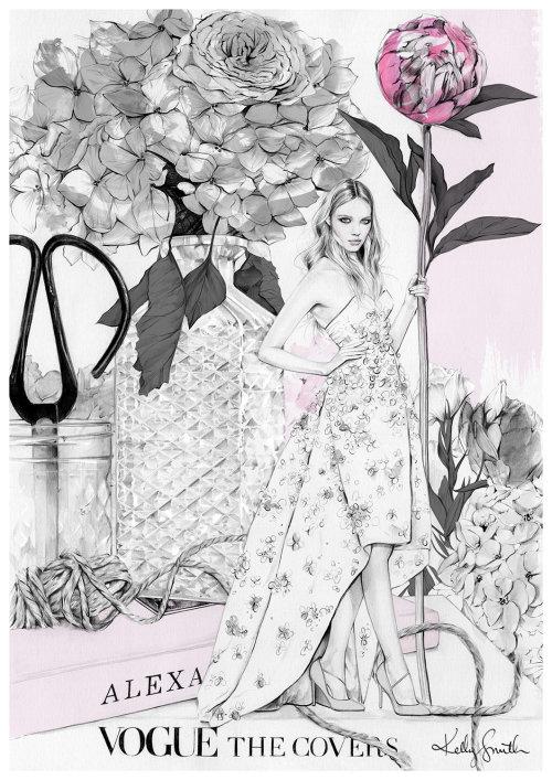 Ilustração de moda de uma senhora