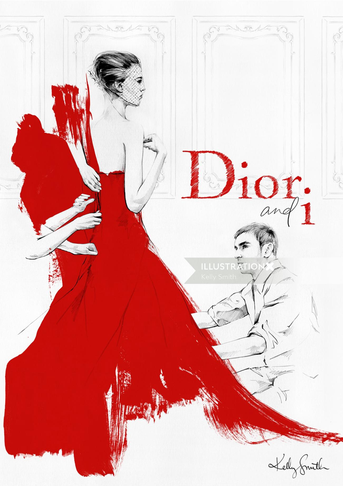 Illustration for Dior & I