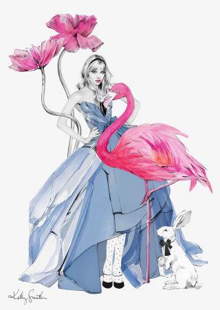 Illustration of Alice in Wonderland