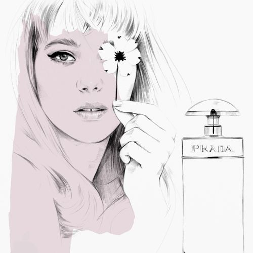 Based on the Léa Seydoux Prada Candy Campaign / for Illustrated Blog Gift Guide