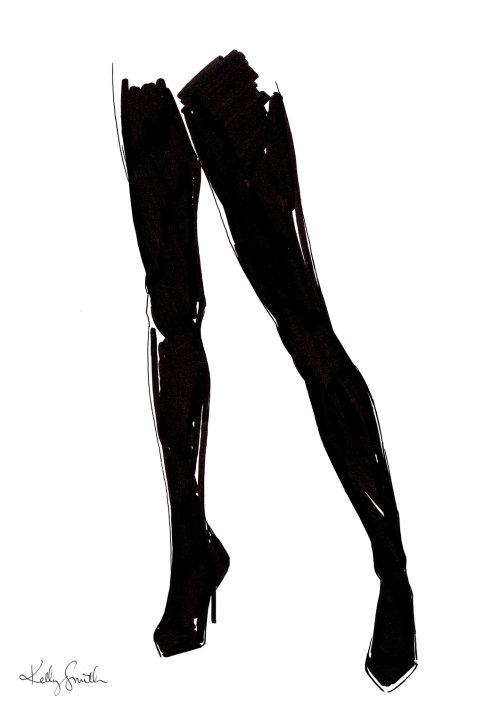 Ilustração de mulher pernas