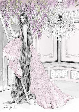 Illustration of Rapunzel costume