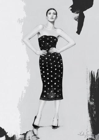 Illustration of Bella Hadid