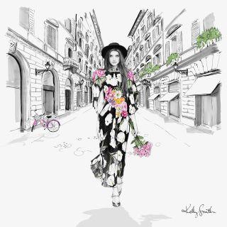 Illustration of Italia fashion clothes