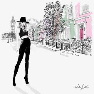 Illustration of London girl