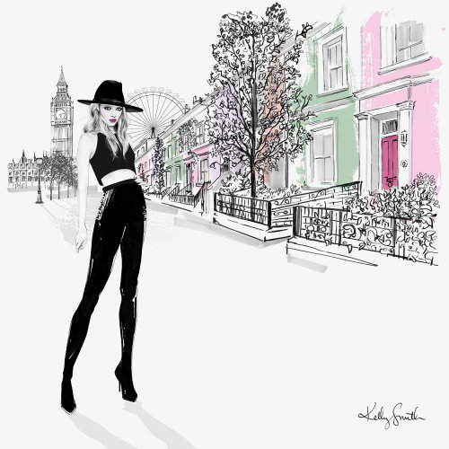 Illustration of London girl