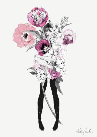 Illustration of the florist