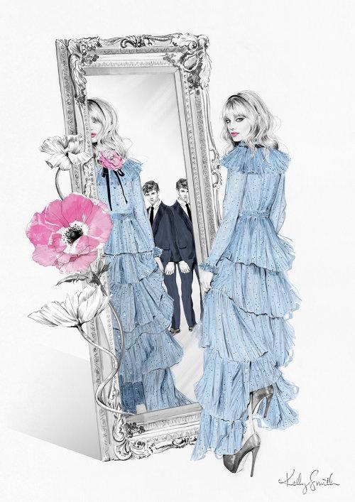 Coloração digital através do espelho