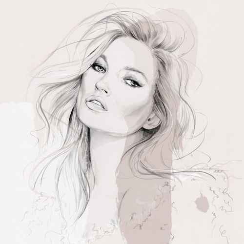 Illustration of Kate Moss