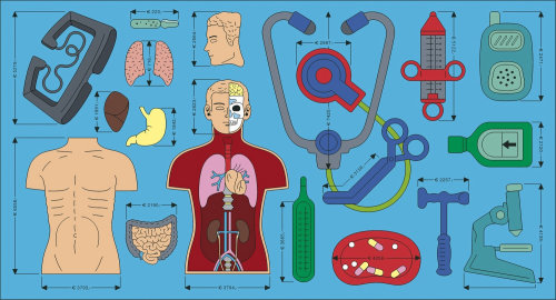 Human parts illustration by Klaus Meinhardt