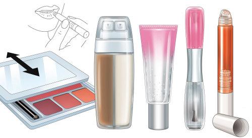 vector de elementos cosméticos y maquillaje