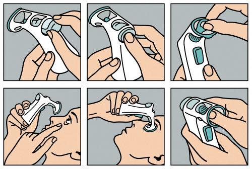 Ilustración del equipo de oftalmología por Klaus Meinhardt