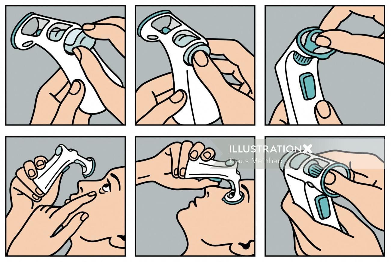 Ophthalmology equipment illustration by Klaus Meinhardt