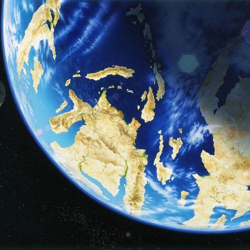 3d illustration of earth and moon