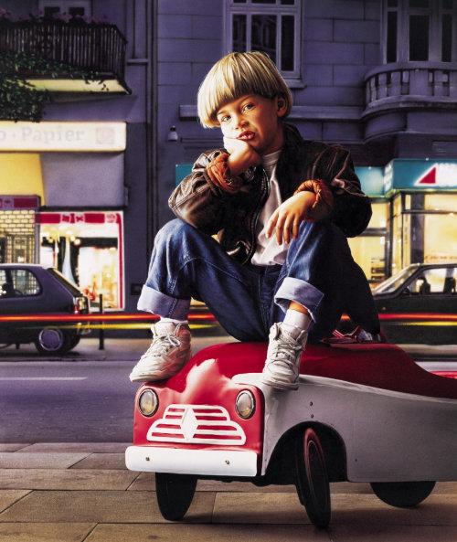 ilustração de um menino esperando
