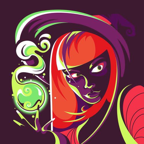 非常现代女巫的Gif肖像动画