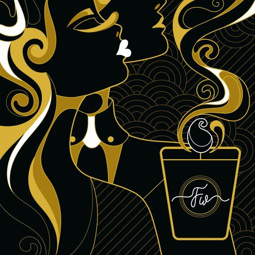 Artwork for the packaging of scented candles.