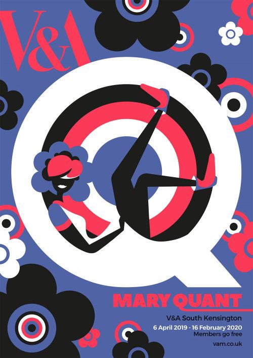 60年代时装设计师Mary Quant的展览海报设计。