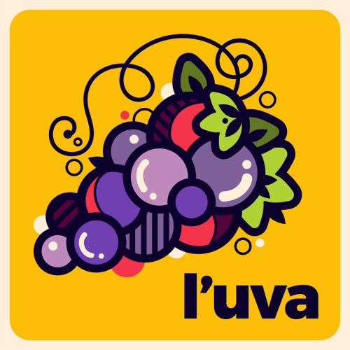 Graphic design of Italian Words: The Grapes