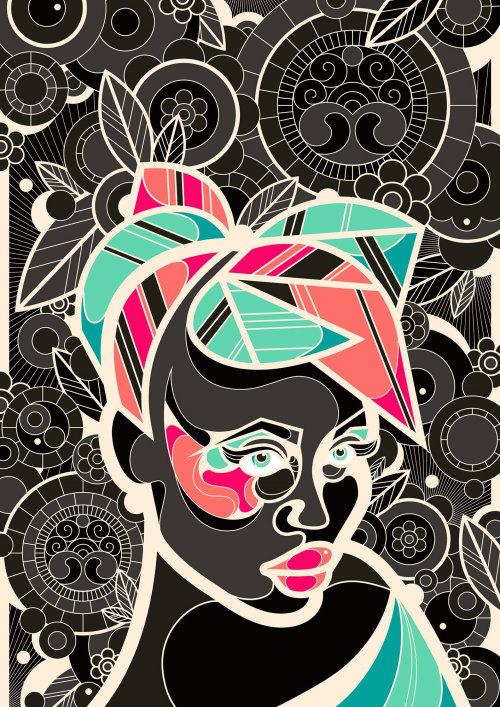 Ornate decorative Portrait illustration