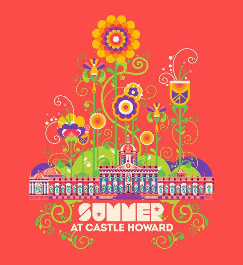 霍华德城堡夏季的2D动画