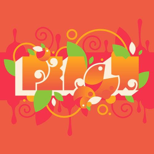 Typographic illustration of PEACH.