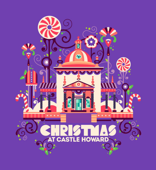 Animation of Christmas at Castle Howard