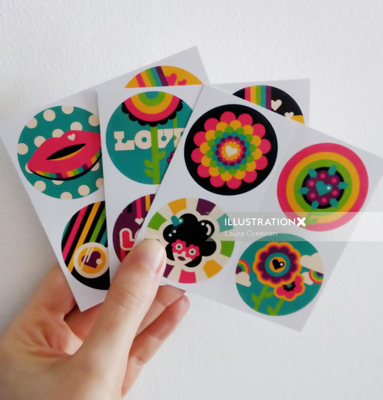 Spread a little love with some pop art stickers.