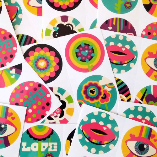 Pop illustration of stickers