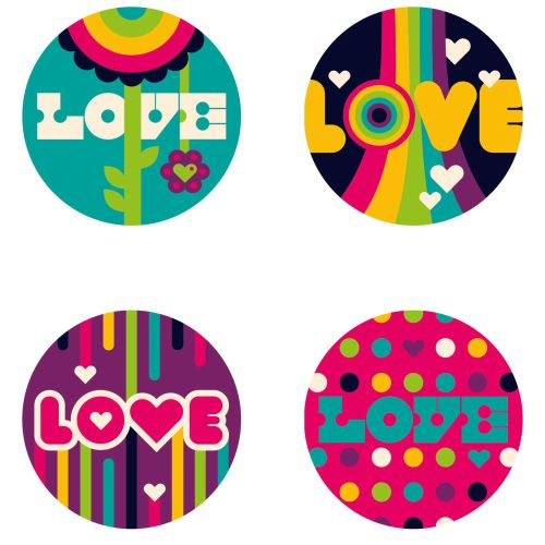 love pop art stickers